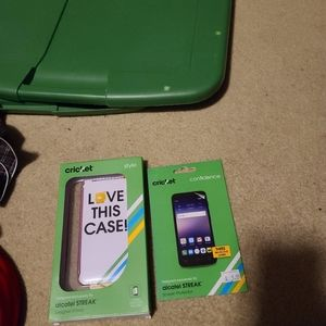 5 items for $12 Phone case and screen protector